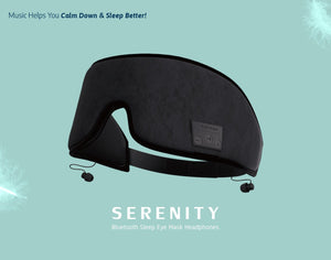 New! SERENITY Sleep Mask with Bluetooth Headphones!