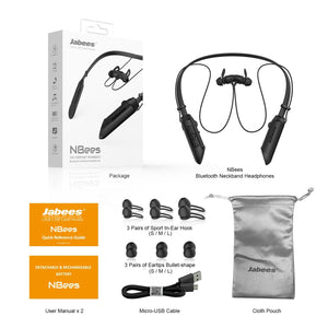 NBees – World's 1st Bluetooth Neckband Headphones with Detachable & Rechargeable Battery - Bluetooth Earphones - jabeesstore - jabeesstore