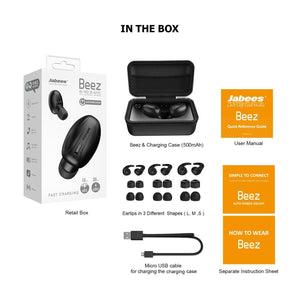 Beez – Bluetooth 5.0 True Wireless Earbuds Featuring Fast Charging - True Wireless Earbuds - jabeesstore - jabeesstore