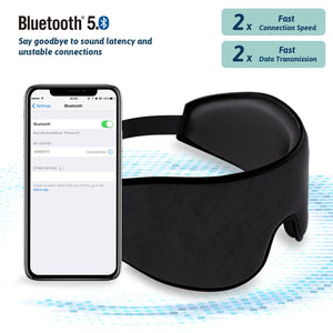 SERENITY - Bluetooth Sleep Eye Mask Headphones - Health Care, Bluetooth Earphones - Jabees Store - jabeesstore