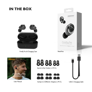 Firefly Pro - True Wireless Earbuds with Intelligent Power Switch System Plus Qi-Enabled Wireless Charging Case True Wireless Earbuds Jabees Store
