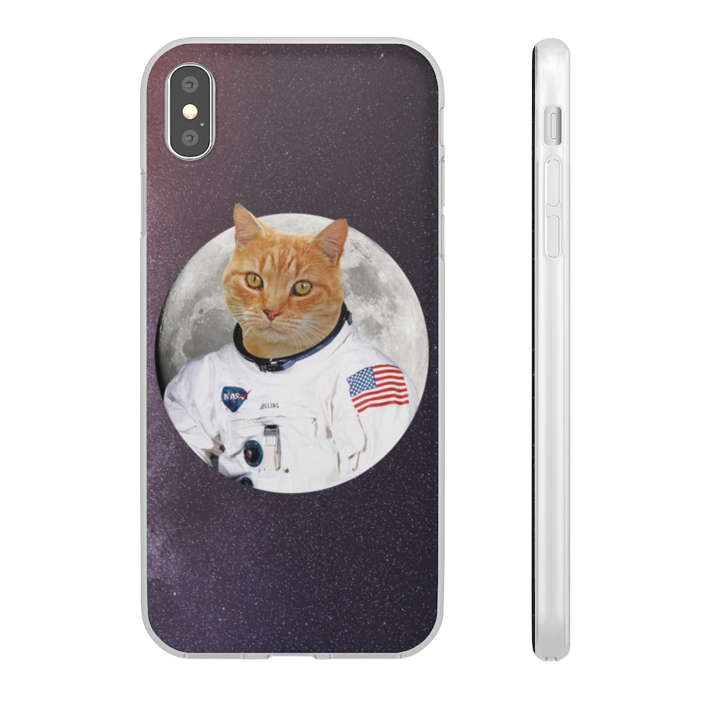 Custom Personalized Cat Astronaut iPhone Case