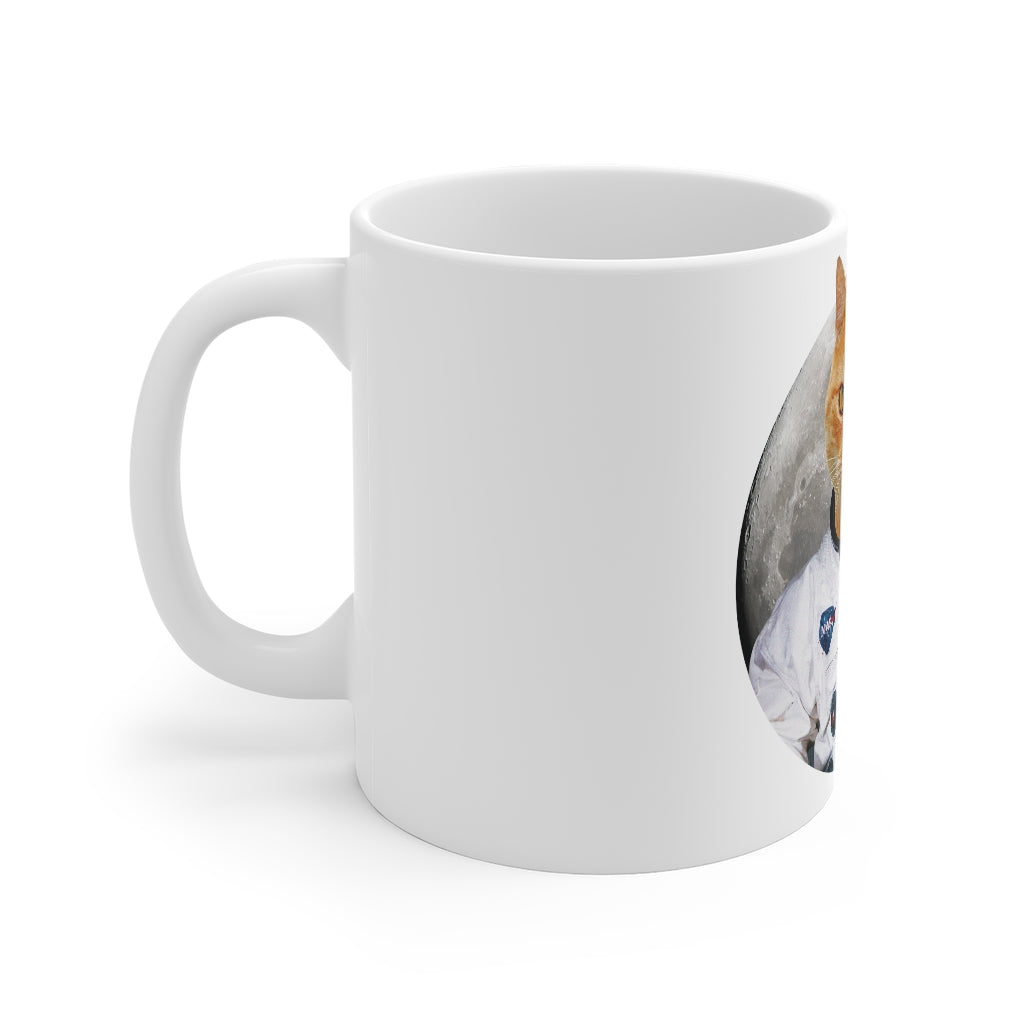 Custom Personalized Cat Astronaut Coffee Mug