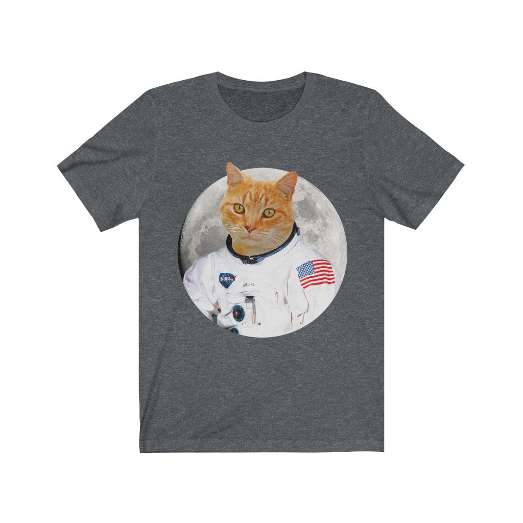 Customized Cat T-shirt, Cat Astronaut Shirt, Personalized Cat Gift, Custom Space Cat Shirt Unisex Men's Women's