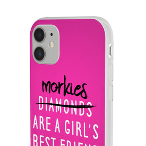 Morkies are a Girls Best Friend Pink iPhone Case