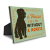 A House is Not a Home Without a Morkie Canvas Sign