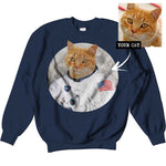 Men's / Women's Custom Cat Astronaut Sweatshirt