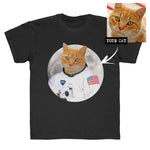 Kids Unisex Custom Cat Astronaut T-shirt