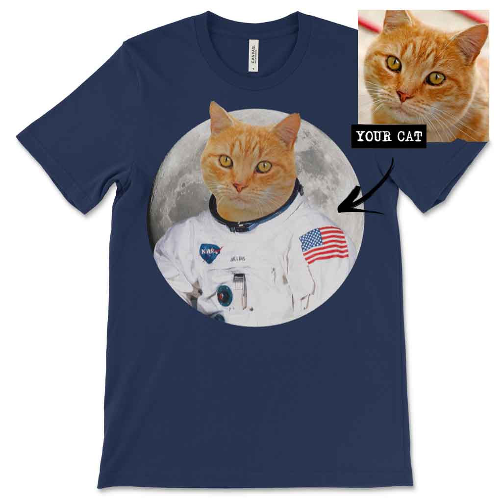 Men's / Women's Custom Cat Astronaut T-shirt