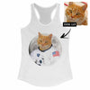 Women's Custom Cat Astronaut Racerback Tank