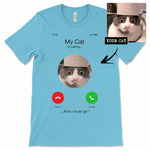 Men's / Women's Custom Personalized iPhone Cat T-Shirt