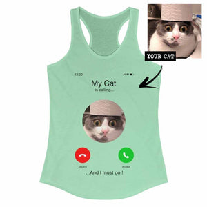 Women's Custom Personalized iPhone Cat Tank