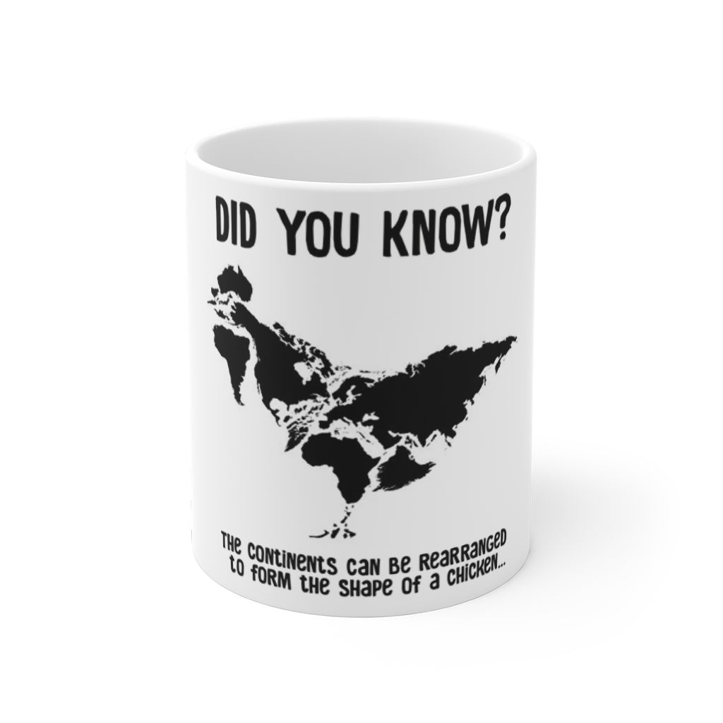 Funny Chicken Fact World Map Coffee Mug