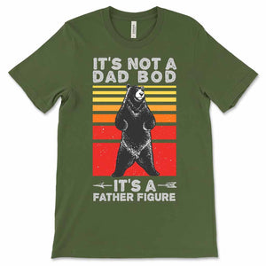Dad Bod Father Figure Funny Father's Day Men's Shirt