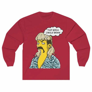 Joe Exotic Simpsons Unisex Long Sleeve T-shirt