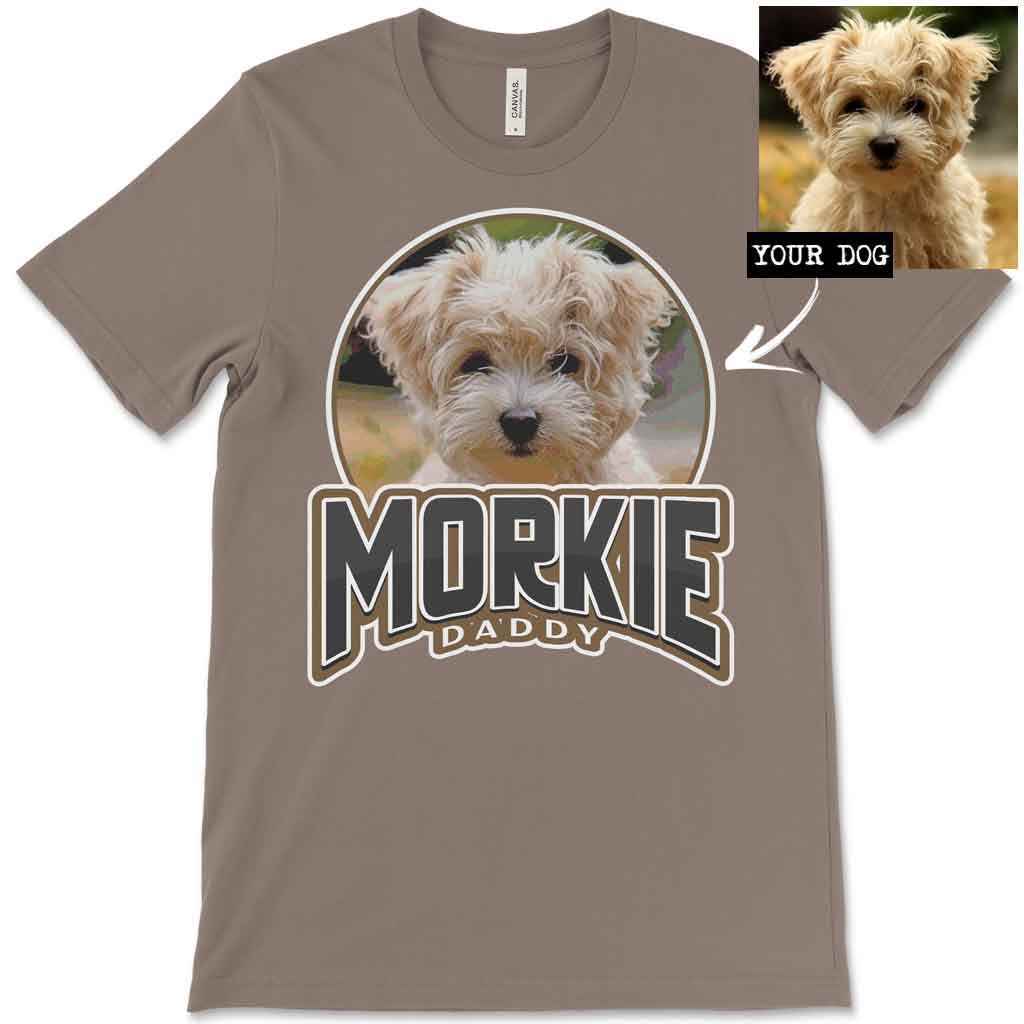 Custom Personalized Morkie Daddy Men's T-Shirt
