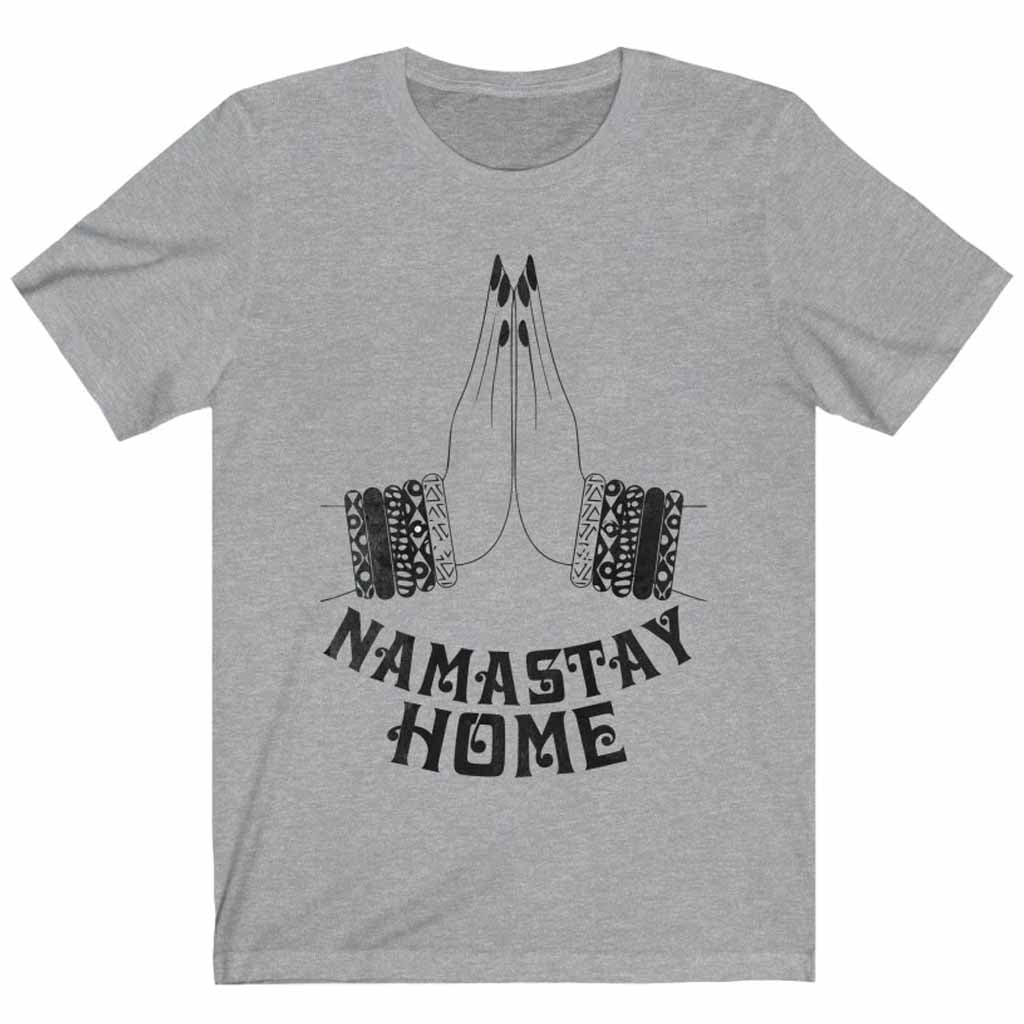 Namaste Home Social Distancing Unisex T-shirt