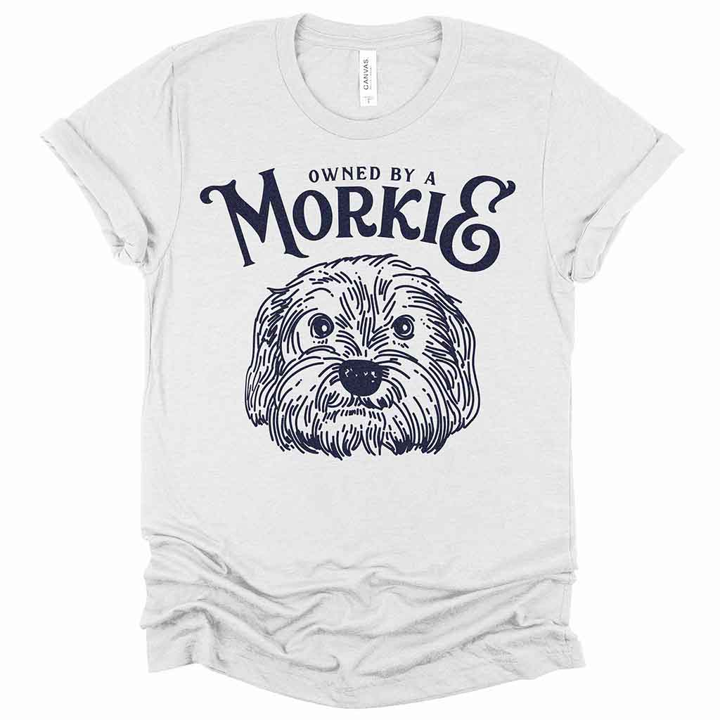 Owned by a Morkie Dog Unisex T-Shirt