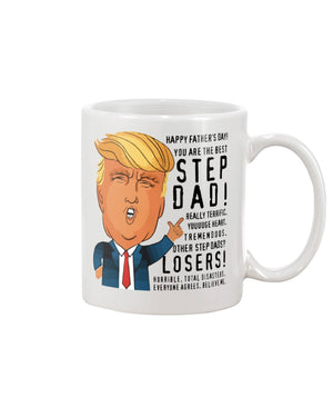 Best Step Dad Trump Father's Day Mug