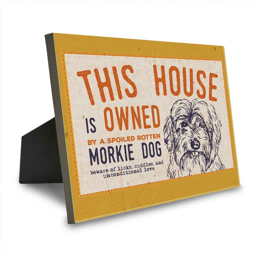 This House is Owned by a Morkie Dog Canvas Sign