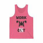 Work In Social Distancing Unisex Tank