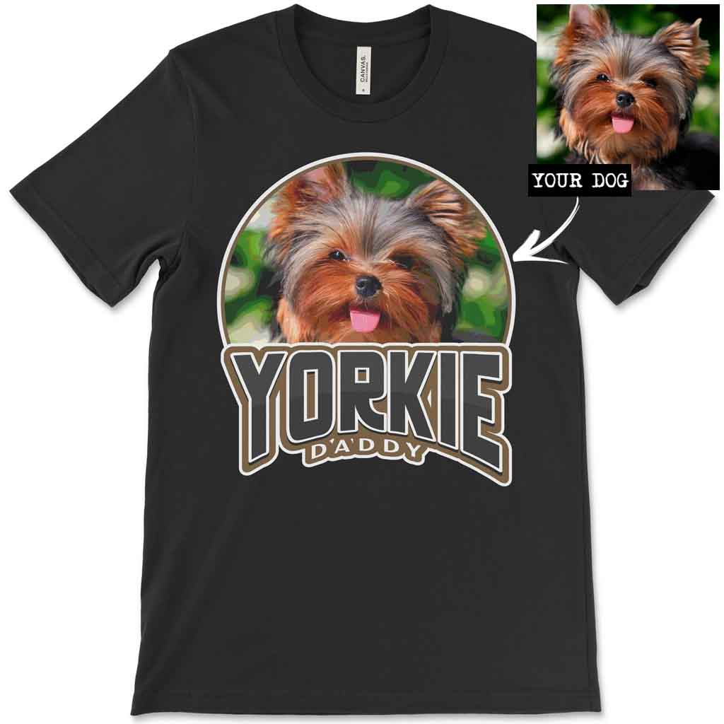 Custom Personalized Yorkie Daddy Men's T-Shirt
