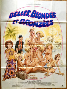"AFFICHE ""BELLES, BLONDES ET BRONZEES"" (grand format)"