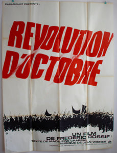 "AFFICHE ""LA REVOLUTION D'OCTOBRE"" (grand format)"