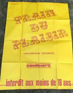 "AFFICHE ""TRAIN DU PLAISIR (DECAMERON INTERDIT)"" (grand format)"