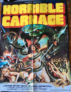 "AFFICHE ""L'HORRIBLE CARNAGE"" (format moyen)"