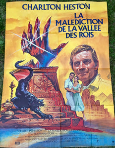 "AFFICHE ""LA MALEDICTION DE LA VALLEE DES ROIS"" (grand format)"