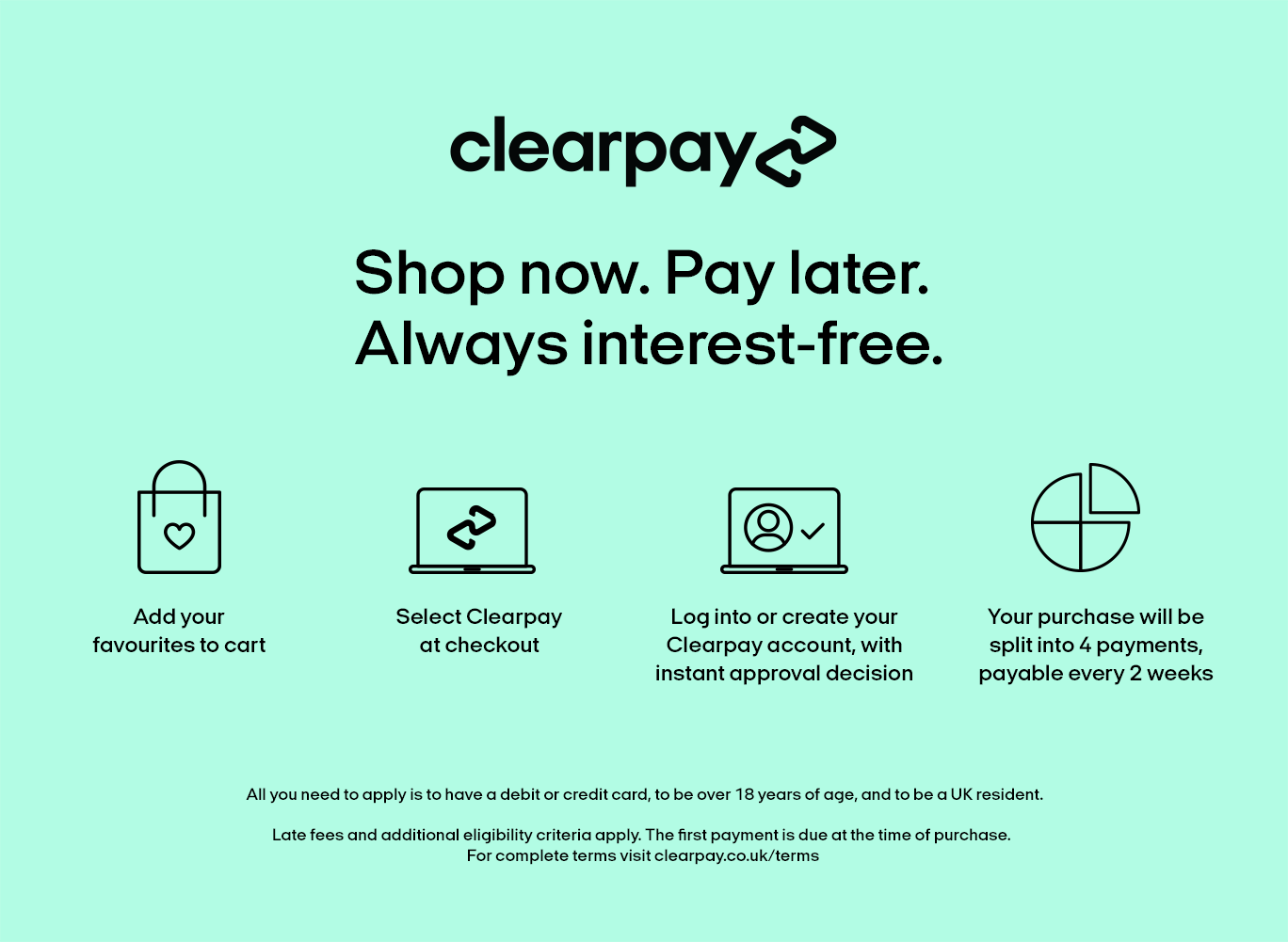 shop bedding with clearpay