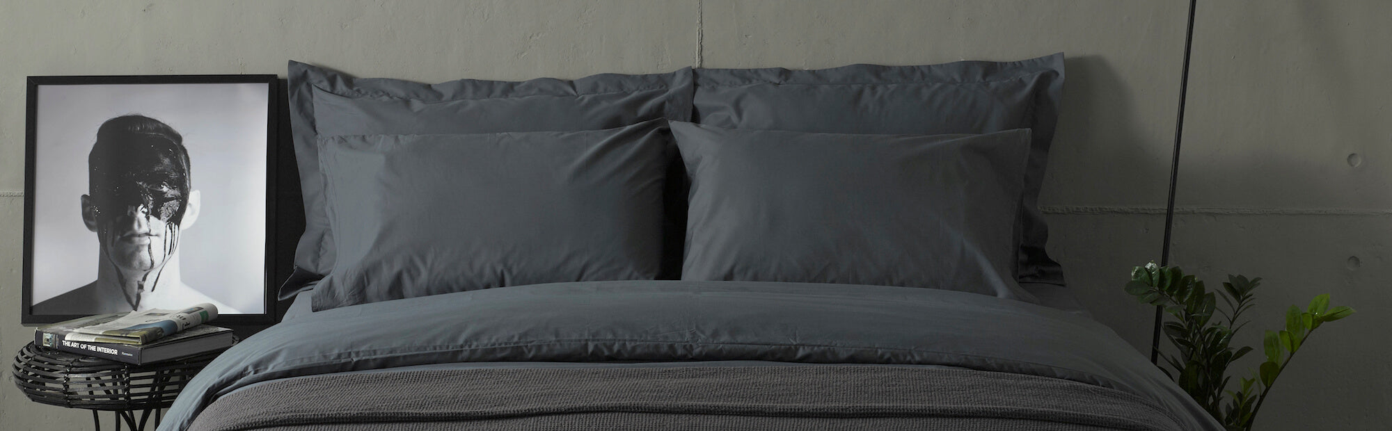 grey bedding products