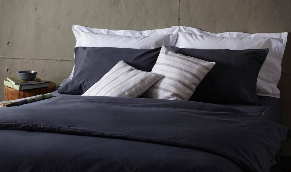 dark grey bedding
