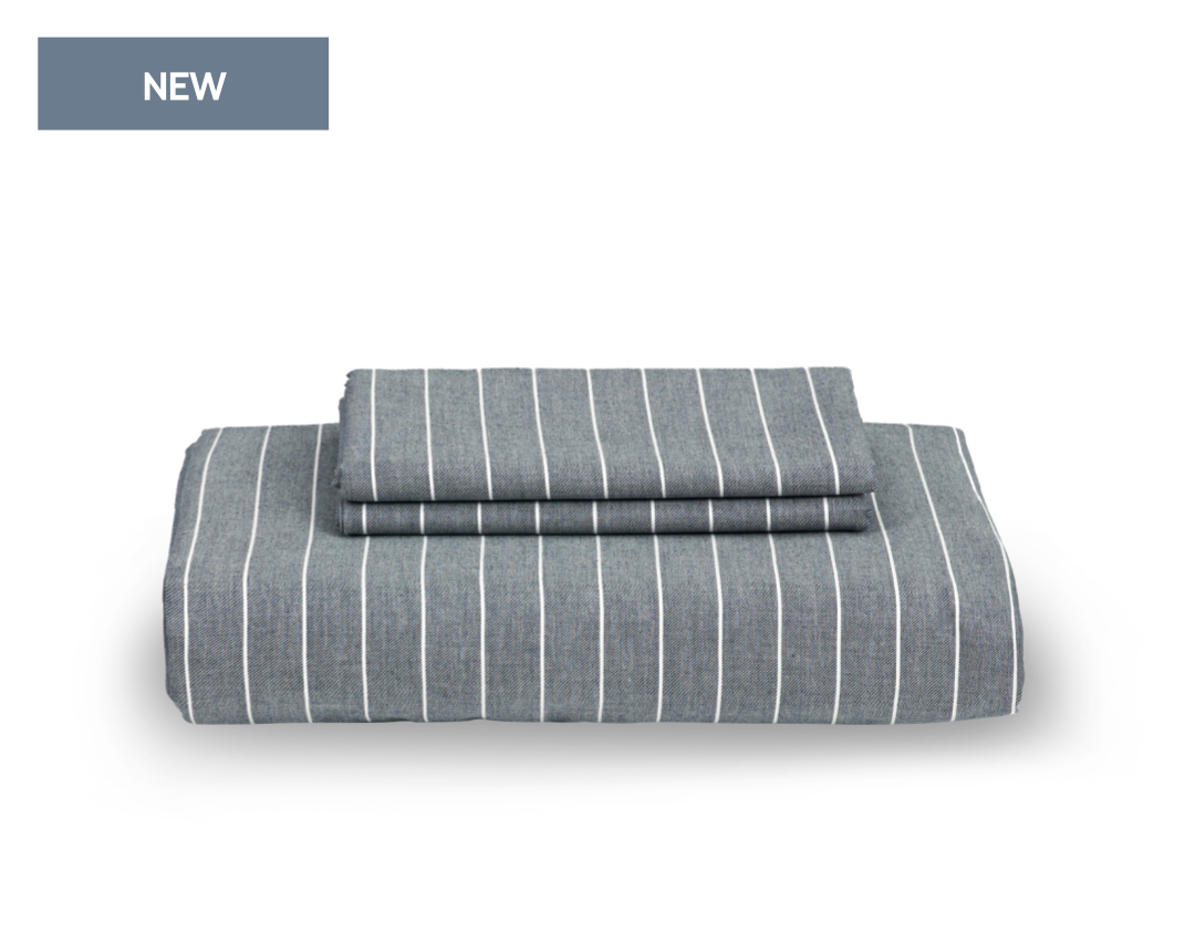masculine bedding set with stripe pattern