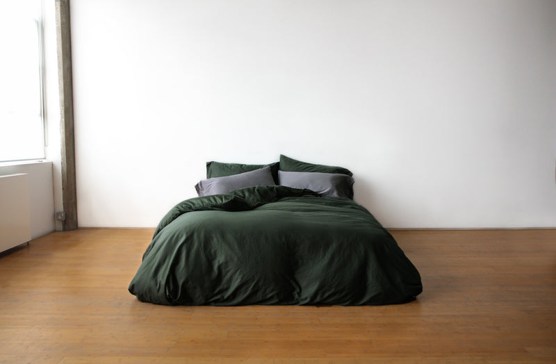 luxury dark green bedding set