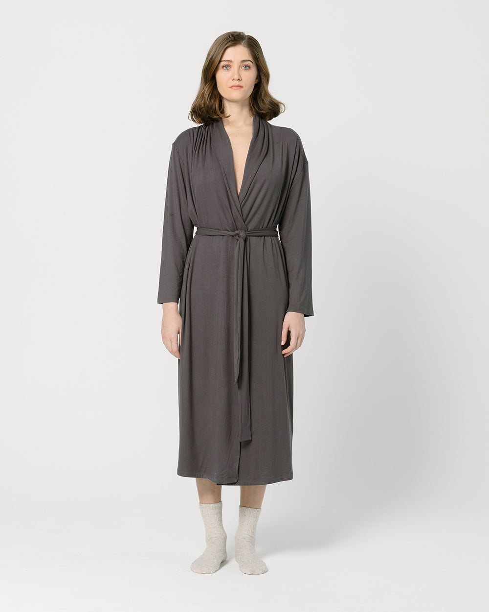 Dark Grey Women's Robe