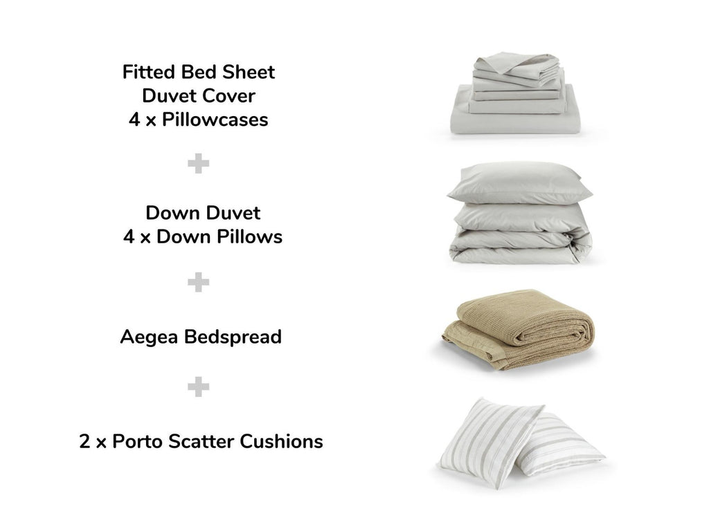 beige luxe bedding set explained