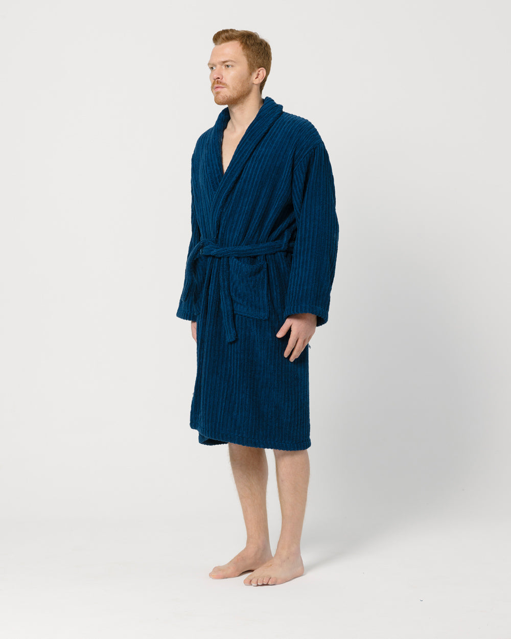 Navy Bathrobe