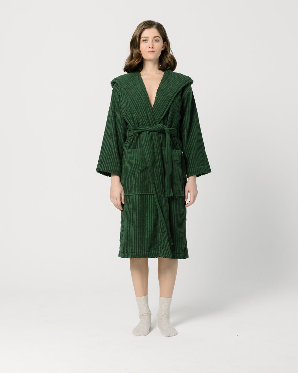 Dark Green Bathrobe