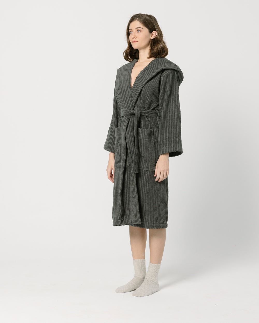 Dark Grey Bathrobe