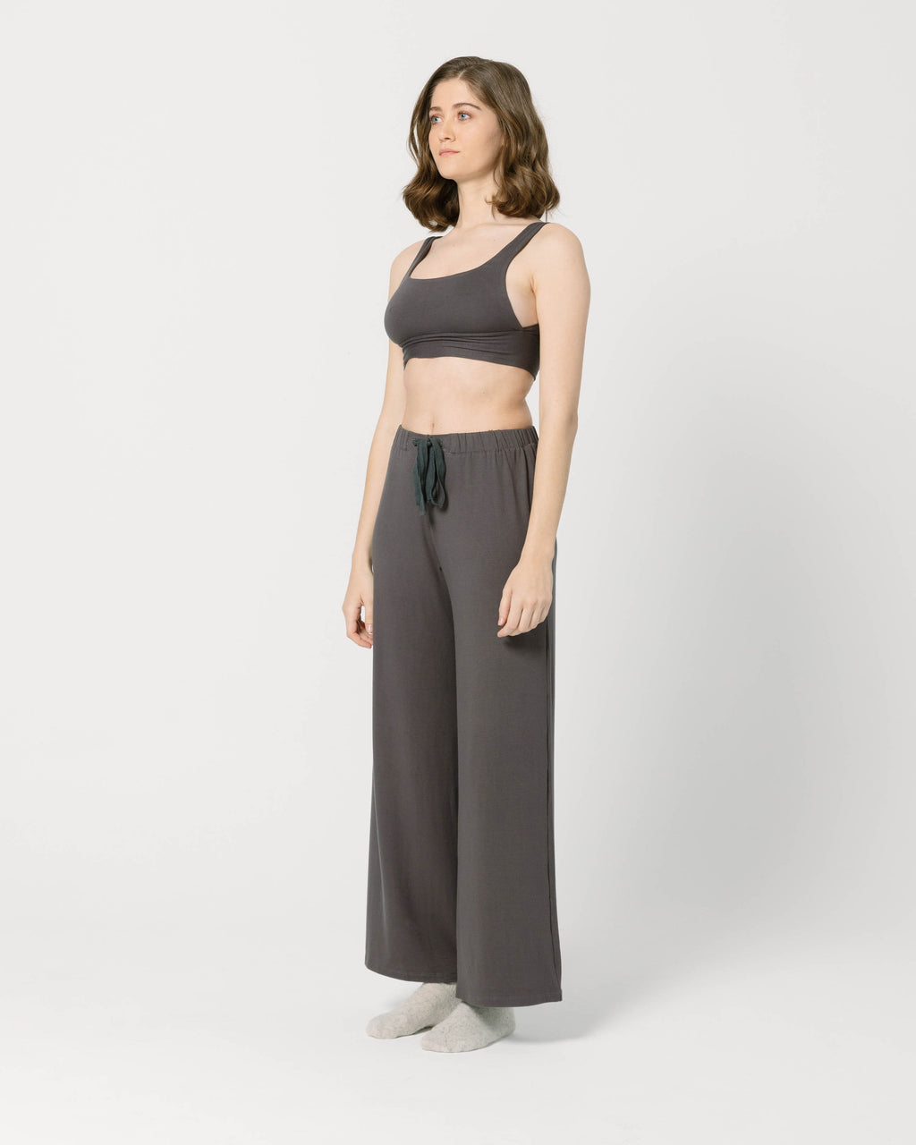 Dark Grey Crop Top