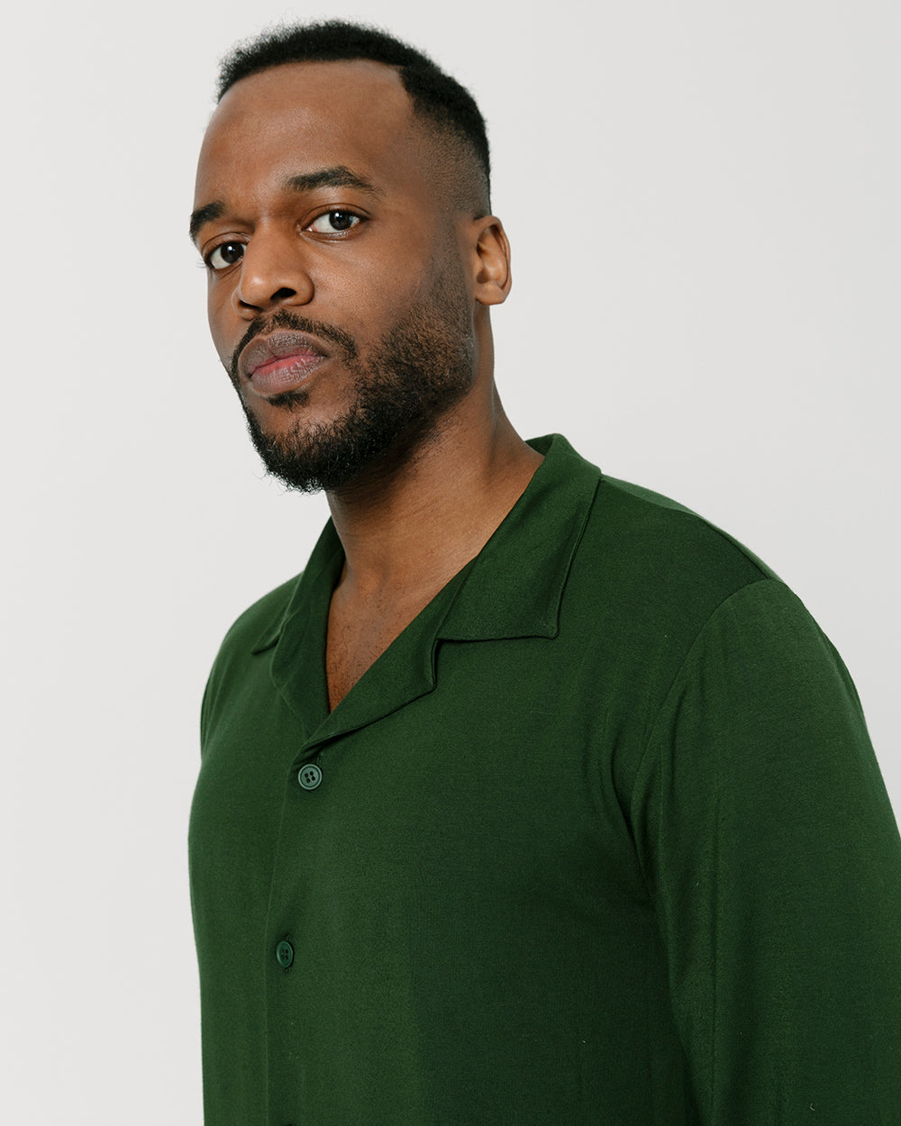 Dark Green Lounge Shirt