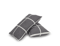 grey checkered scatter cushions