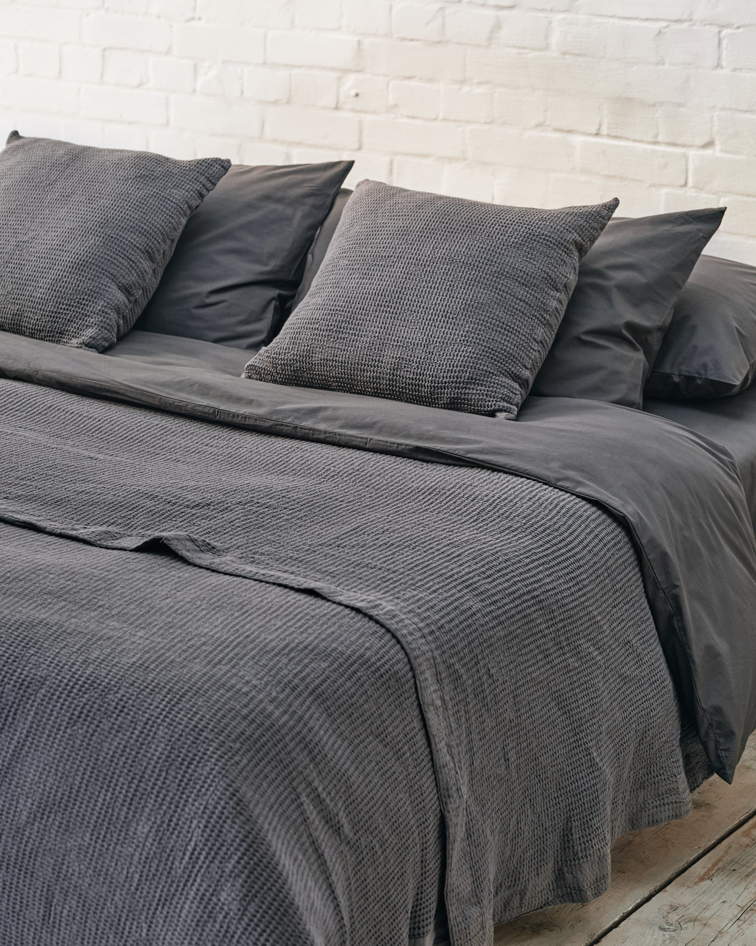 Dark Grey Luxe Bedding Set Luxury Bedding Sets Beddable
