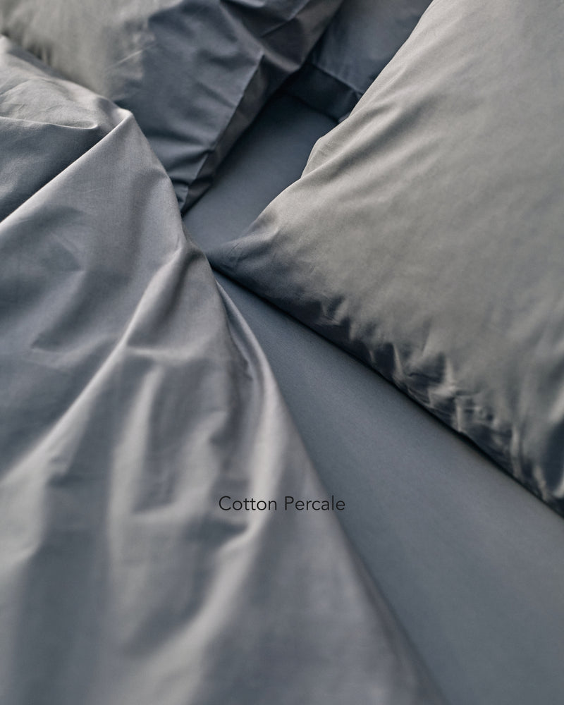 dark grey cotton percale bedding texture