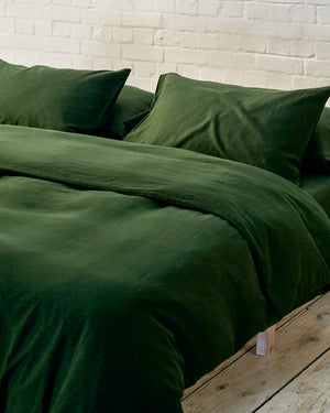 Dark Green Bedding Set