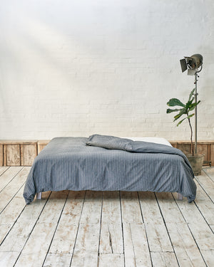 navy blue and white striped duvet cover
