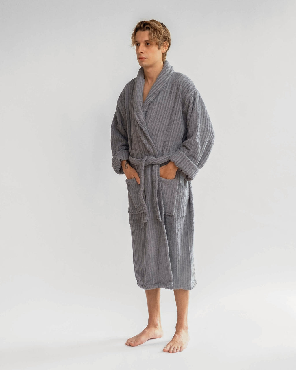 Silver Grey Bathrobe