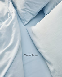 light blue washed cotton bedding texture